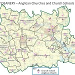 Churches and school map